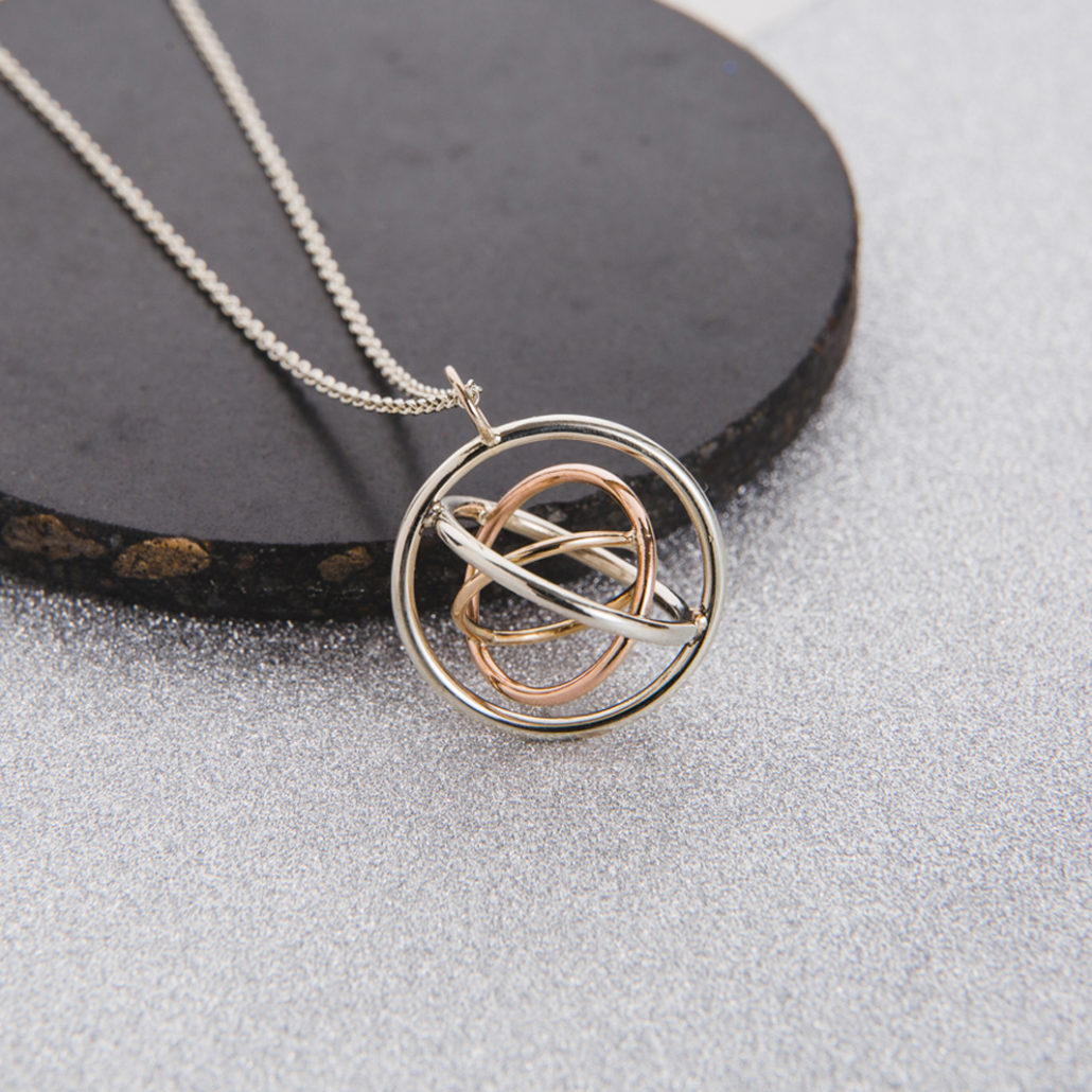 Judith Peterhoff Jewellery - bespoke handmade family pendant in 9ct gold