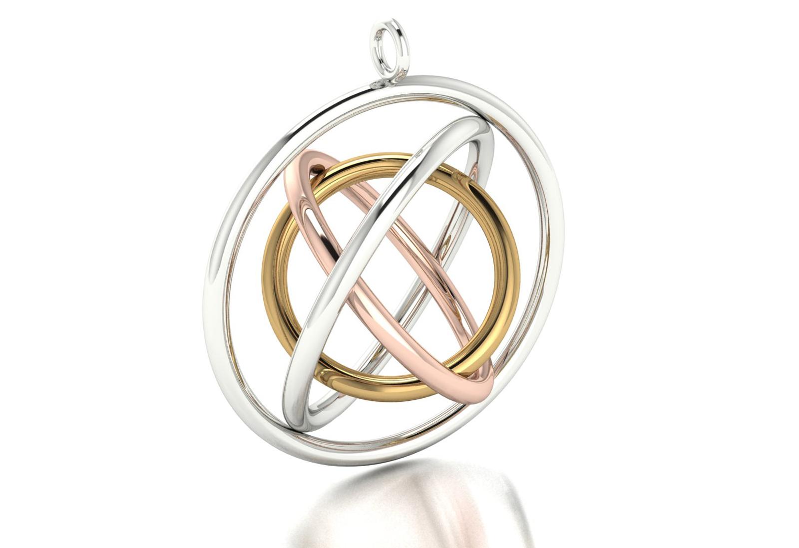 Judith Peterhoff Jewellery - CAD render for bespoke family pendant