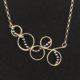 Judith Peterhoff Jewellery - Bespoke handmade Birthday Necklace in Silver and black pearls