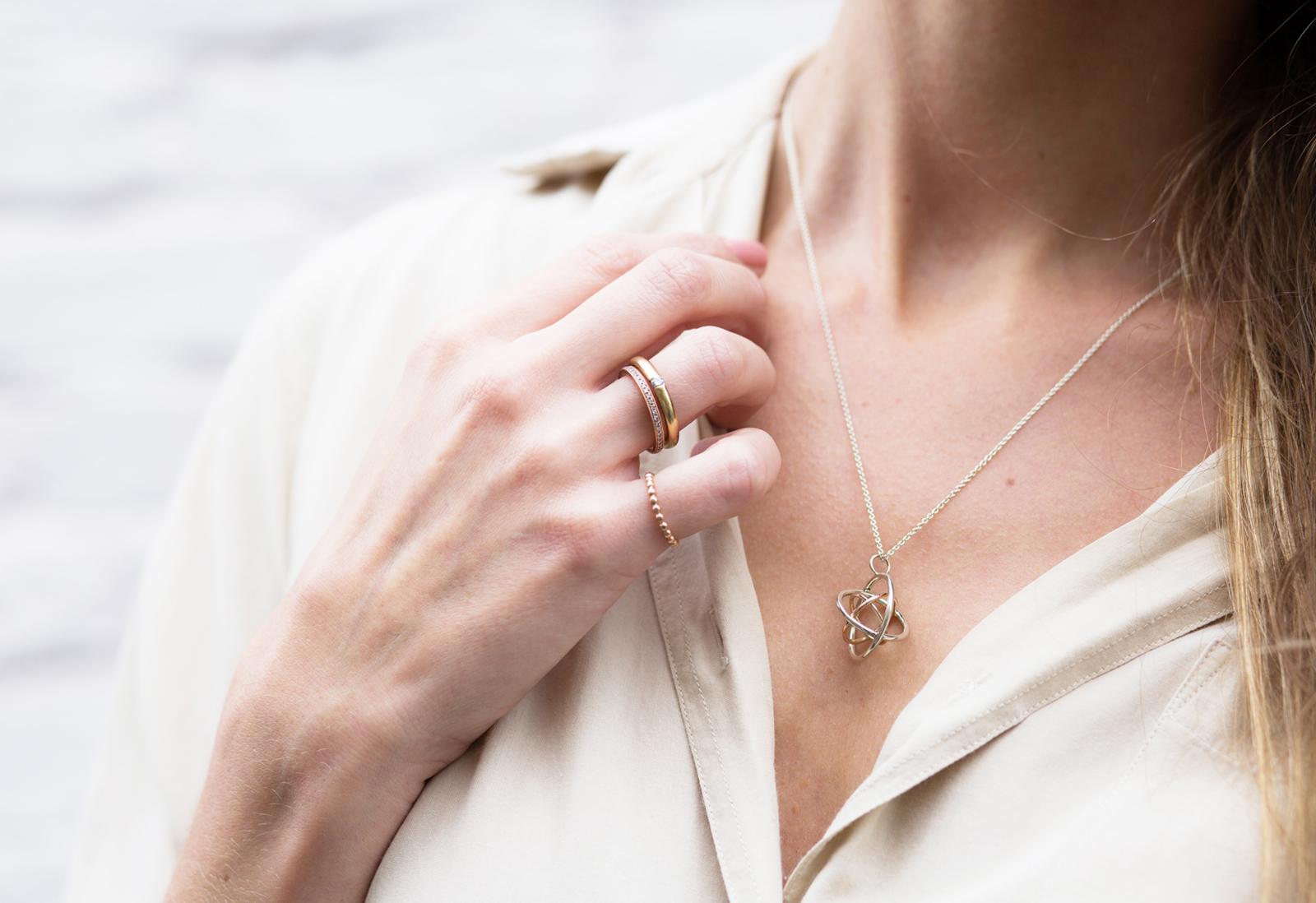Judith Peterhoff Jewellery - bespoke handmade family cirlce pendant