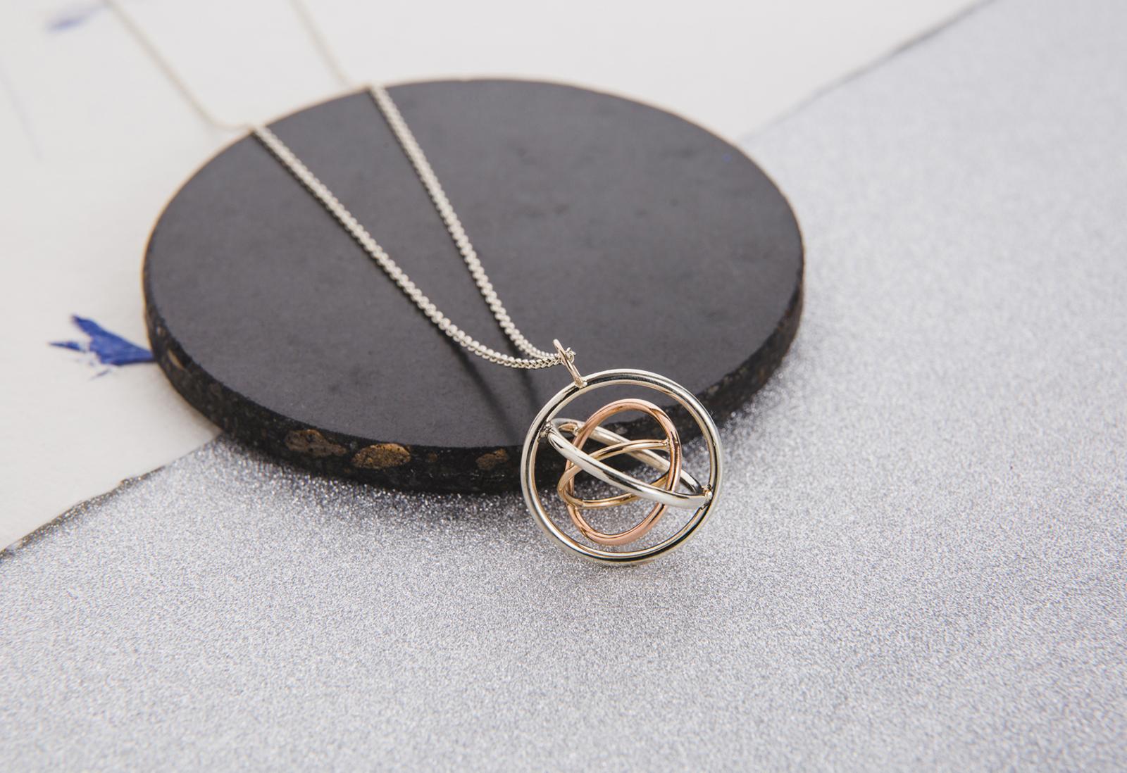 Judith Peterhoff Jewellery - bespoke handmade family pendant in 9ct gold