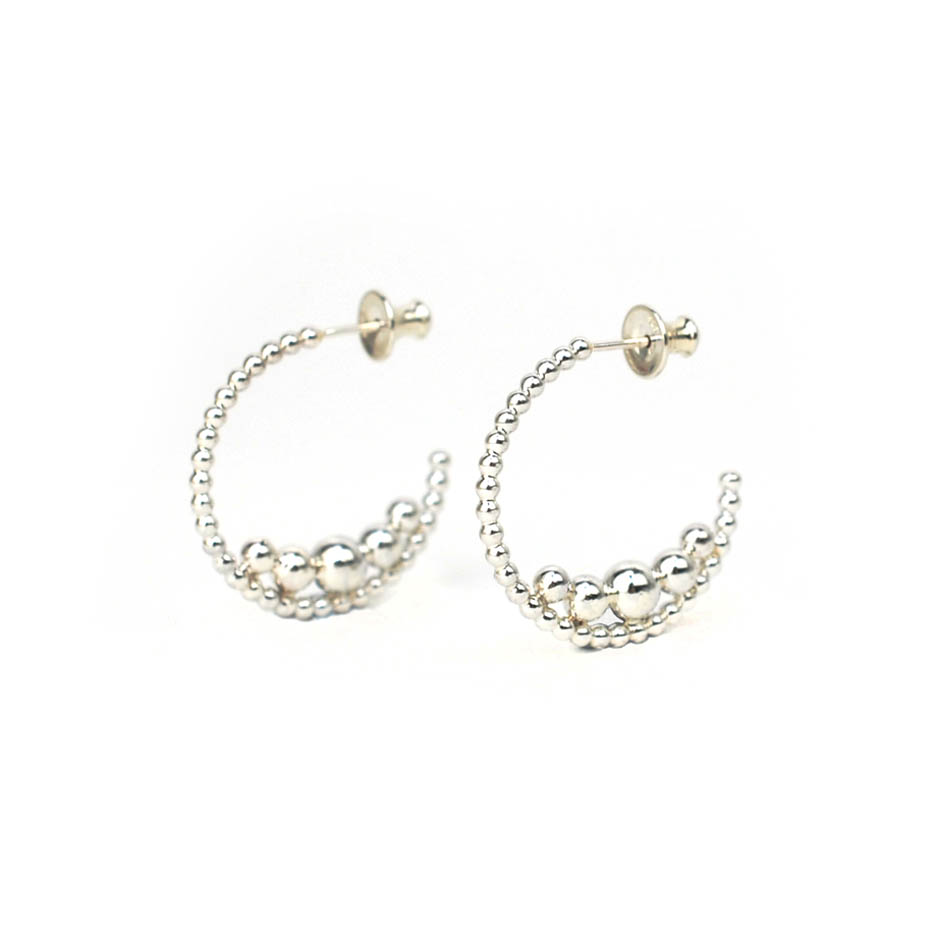 BoulBoulle Multiple Beads Hoops