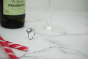 Christmas Proposal with Champagne