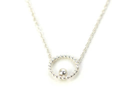 Small Circle Bead Necklace Polished