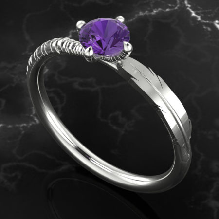 Judith Peterhoff Jewellery - Bespoke engagement ring inspired by owls.