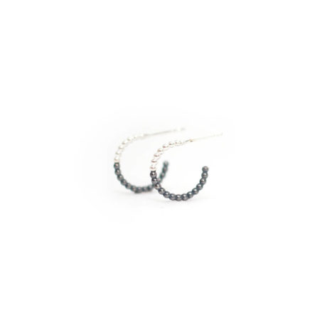 Mini Two Tone Hoops