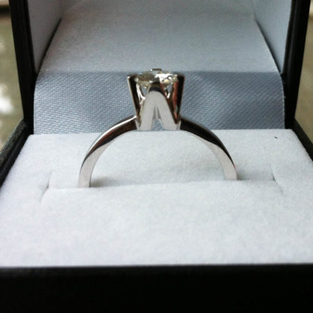 A & W Bespoke Initials Engagement Ring