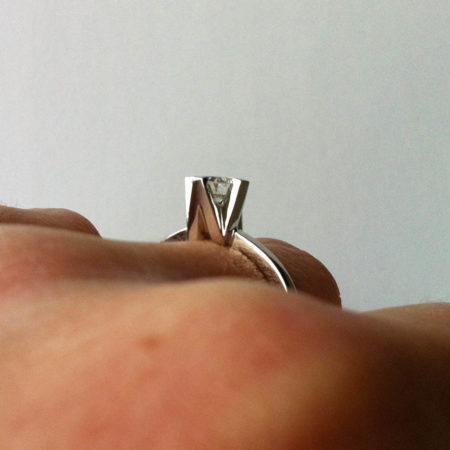 A&W Bespoke Initials Engagement Ring