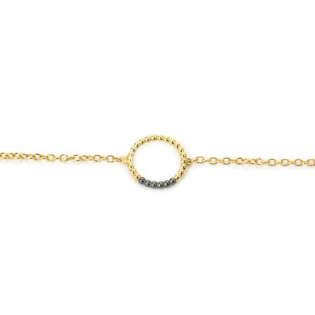 Charm Bracelet Yellow Black