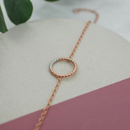 Circle Bracelet Rose Gold White Rhodium StillLife