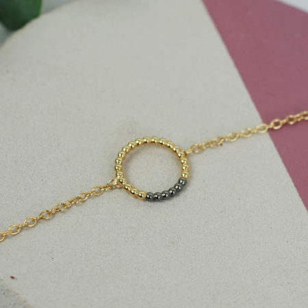 Circle Charm Bracelet Yellow Black StillLife