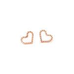 Heart Earrings Rose
