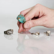 Judith Peterhoff Jewellery Skins Collection chased jewellery